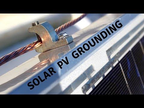 Grounding Solar PV System, DIY, on Pallets