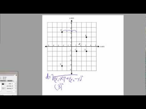 Math4GED -  Distance Between Points on a Coordinate Grid
