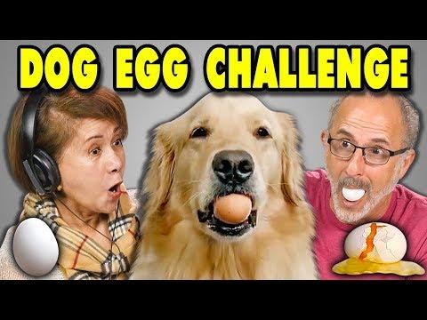 ELDERS REACT TO DOG EGG CHALLENGE?! (#EggChallenge)