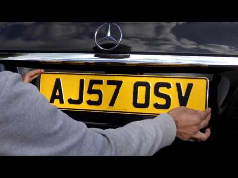 Pressed Metal Number Plates Review 3D embossed UK Car Registration
