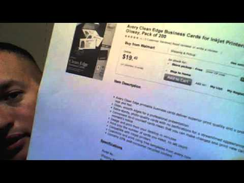 $19.99 200 BLANK business card  printing paper @ home VS $35 1,000 FULL COLOR? any questions?