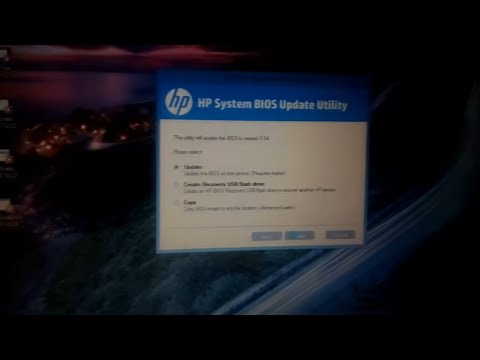 how to update bios in hp laptop 2018