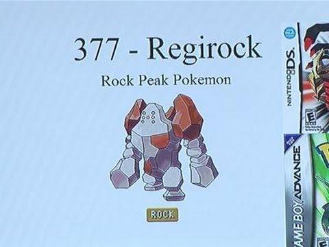 How To Get Regirock In Pokemon