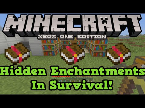 Minecraft Xbox One + PS4: SECRET ENCHANTMENTS Tutorial (Efficiency 5 Sharpness 5)
