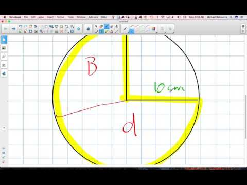 Calculating Arc Length of a Sector of a Circle Grade 12 College Technology Lesson 8 3
