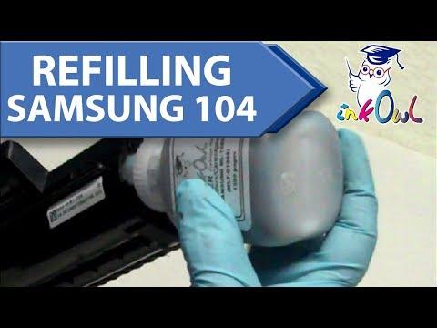 How to Refill SAMSUNG MLT-D104S, MLT-D104X, MLT-D1042S (104 series) Toner Cartridges