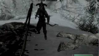 Skyrim Gameplay - Archer versus Frost Troll