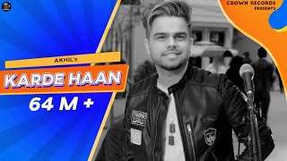 Karde Haan | AKHIL | Manni Sandhu | Official Video | Collab Creation | New Punjabi songs 2019