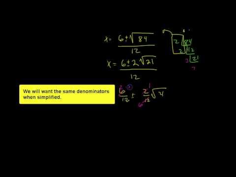 Quadratic formula with complex solutions