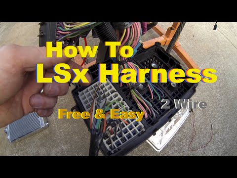 LSx Swap Harness How To Simple & Free DIY Standalone on the Test Stand