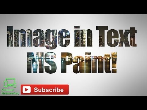How to Put Image in Text - Paint Tutorial