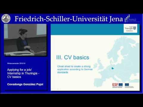 Applying for a job/ Internship in Thuringia - CV basics