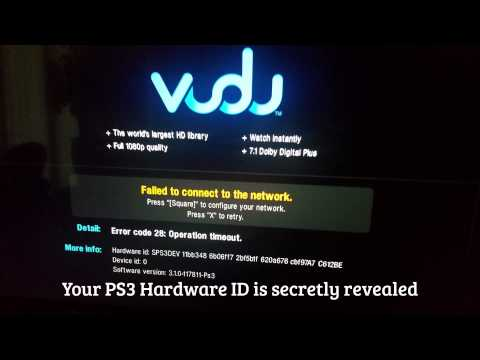 PS3 Secret Hardware ID (PS4 too)