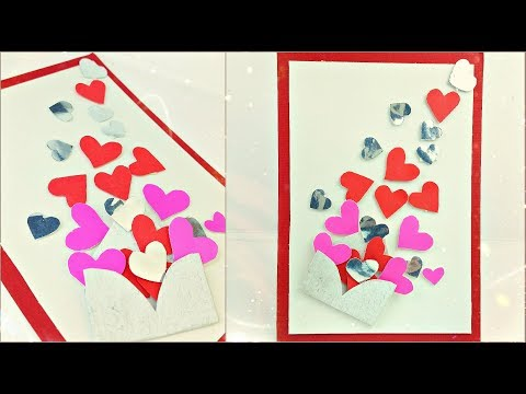 Valentine's day gift card ideas homemade for boyfriend | heart card tutorial making ideas