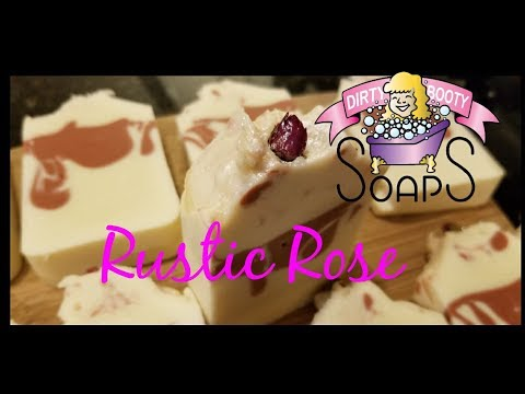 Making Rustic Rose Soap &  Product Review