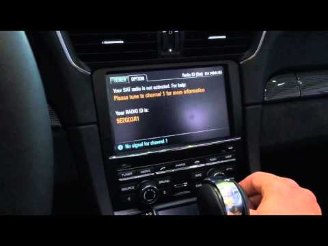 Porsche XM/Sirius radio activation demo