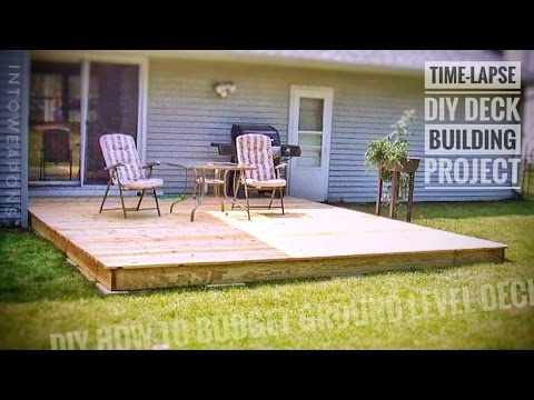 DIY Deck Time-Lapse:  Building a Ground Level Deck!
