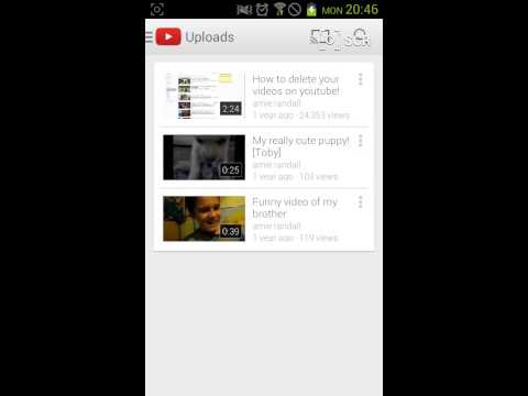 How to delete YouTube vids on a phone\tablet