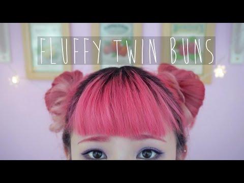 Fluffy Twin Sock Bun Tutorial For Short Hair
