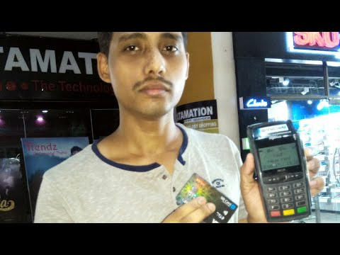 How to use contactless card 💳 Visa Paywave or MasterCard paypass