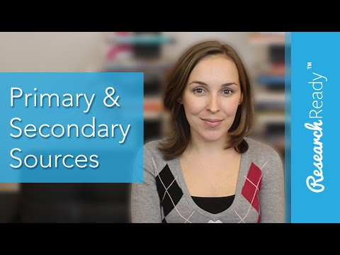 What's the Difference Between Primary & Secondary Sources?