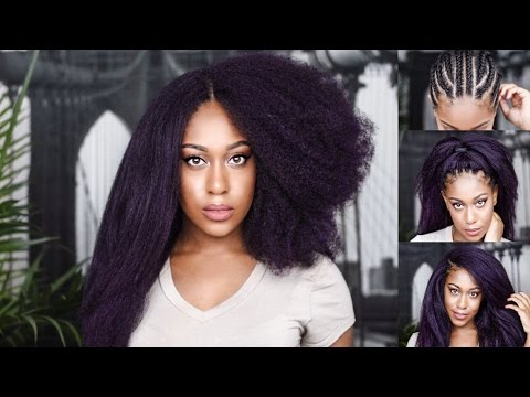How to: STRAIGHTEN VERSATILE CROCHET BRAIDS (no leave out, 3way invisible knotless part)