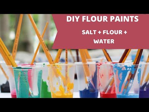 how to make diy flour paint