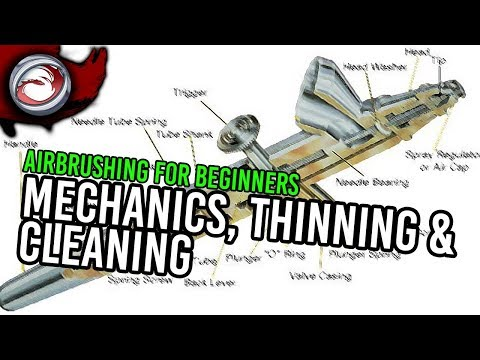 Airbrushing for Beginners #3: Basic Mechanics, thinning paint and cleaning