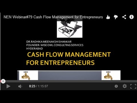 NEN Webinar#79 Cash Flow Management for Entrepreneurs
