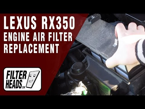 How to Replace Engine Air Filter 2012 Lexus RX350 V6 3.5L