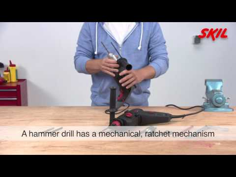 What's the difference between a hammer drill and an SDS drill?
