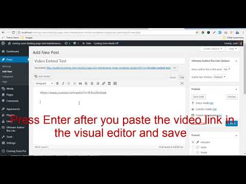 Video Embed Hack - Ultimate Author Box