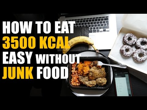 How To Eat 3500 Calories Easy *No Junk Food*