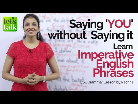 Imperative English sentences in passive voice | Say 'YOU' without saying it | English Grammar Lesson