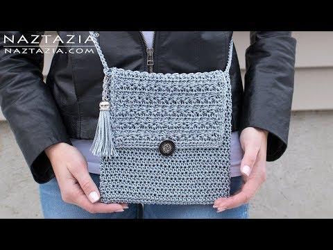 How to Crochet My Mini Bag - DIY Tutorial - Easy Handbag Purse Clutch Bolsa Borsa
