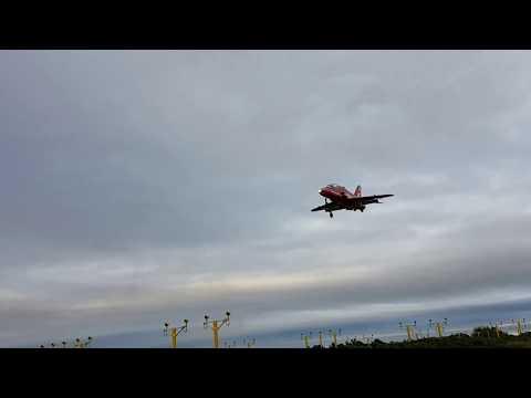 Red Arrows landing at Liverpool John Lennon 06/08/16