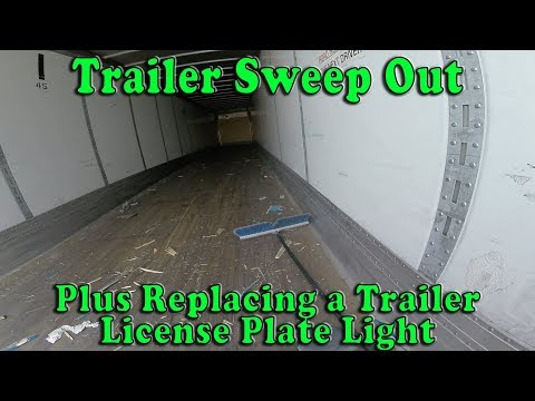 Trailer Sweep Out and License Plate Light Replacement in Groveport, OH