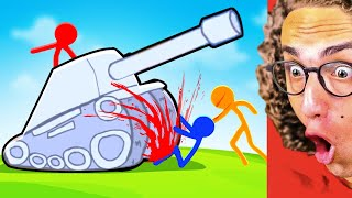 Playing The BEST STICK FIGHT VIDEO GAME On The Internet!