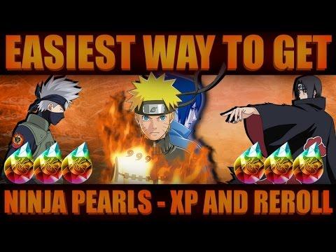 Naruto Shippuden Ultimate Ninja Blazing - Easy way to Get Ninja Pearls, XP and Reroll