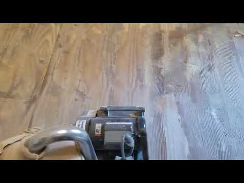 How to remove glue from subfloor