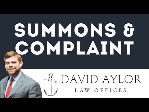 What to do if Served with Summons & Complaint?   Charleston Civil Litigation Attorney