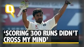 The Quint: Karun Nair and his Parents React to the Amazing Triple Ton