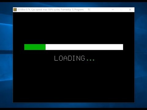 Computer graphics program for loading bar in turbo c++