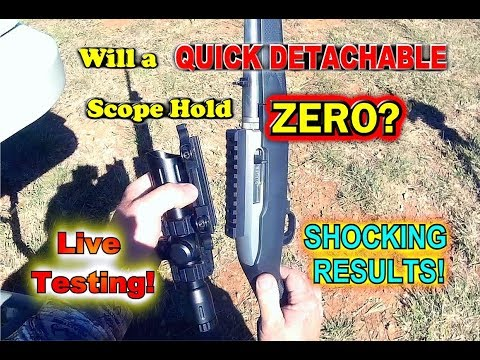 Will a Quick Detach scope hold Zero after being removed?  Live Testing!