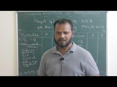 Final Accounts - Profit and Loss account without adjustments - Hindi