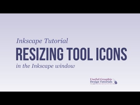 Inkscape Tutorial 2017: Changing the size of icons in Inkscape window