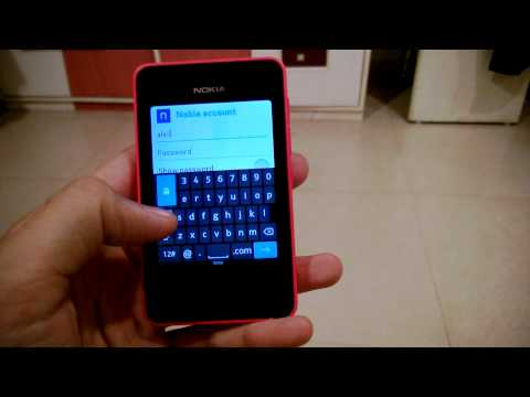 How To - Add Your Nokia Account to Nokia Asha 501