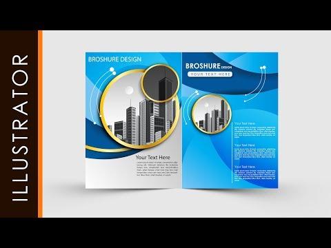 Adobe Illustrator Tutorial Create Business Brochure Two fold #freeDownloads