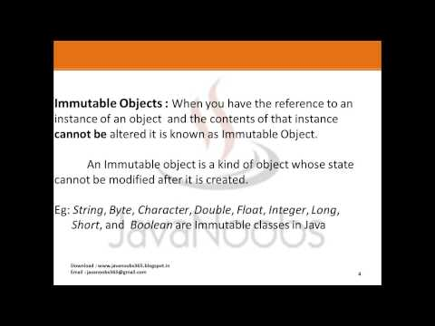 Java Basics Part 1 - Q 09) What is Mutable And Immutable Object