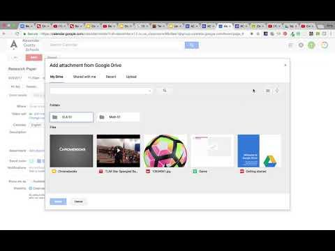 Add an Event or Assignment to a Google Calendar